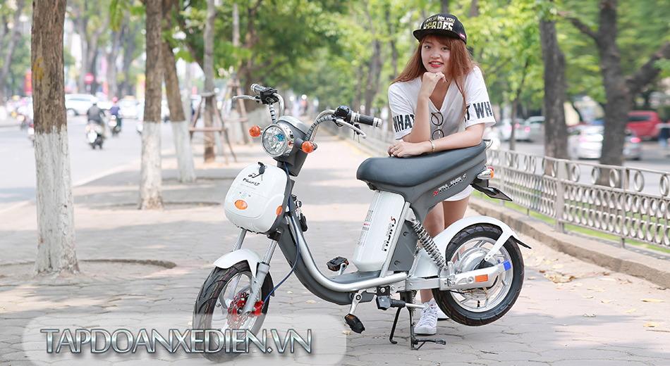 xe đạp điện Nijia S trắng