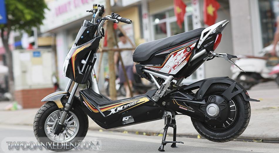 xe máy điện nâu vàng